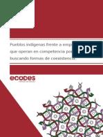 Pueblos indígenas frente a empresas que compiten por los recursos