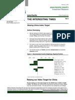 120207 Interesting Times - No 8 - Raising China Index Target - QUANTs ... PER, Discount Rate, DDM