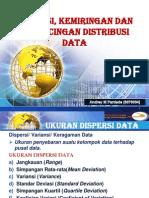 Dispersi, Kemiringan Dan Keruncingan Data