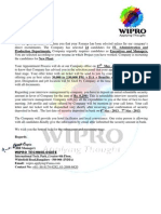 Fake Wipro Offer