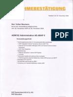 SAP Administration II, SAP Technology Professional, Volker Neumann, SAP Administrator, SAP WEB AS ABAP,  ADM102