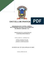 Carta de Control Interno Caraveli