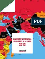 classement mondial de la liberté de la presse