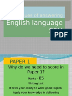 Techniques of Answering SPM