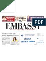 "CHRO in ""Embassy Magazine [ May 2013], Canada"