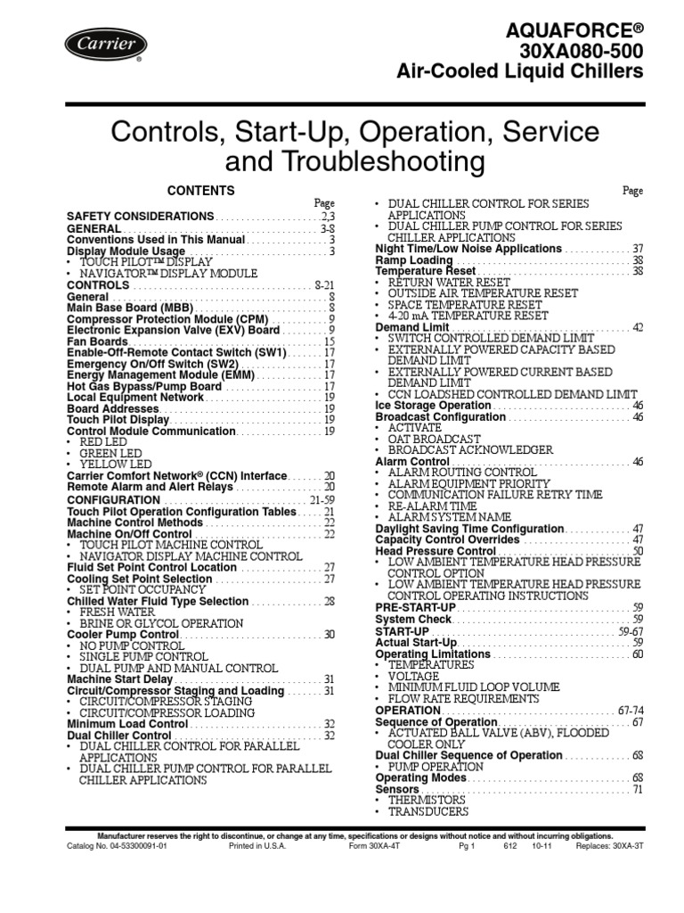 Carrier 30xa Troubleshooting Manual