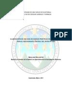 Elaboración de una Guía de Buenas Prácticas de Manufactura para el Restaurante Central de Irtra Petapa