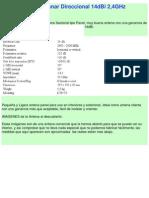 Antena Planar Direccional 14dBi 2