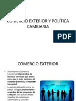 COMERCIO EXTERIOR Y POLÍTICA CAMBIARIA
