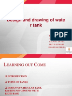 Design and Drawing of Water Tank