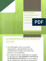 Disertacion Barranco. La intervención en trabajo social desde la calidad integrada