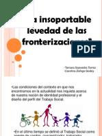 Disertacion Delano. La Insoportable Levedad de Las Fronterizaciones