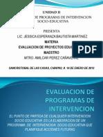II Unidad Evaluacion de Programas de Intervencion Socioeducativa