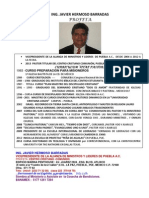 1 Curriculum Vitae Ing Javier Hermoso b.
