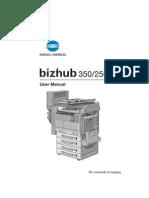 Bizhub 250 350 - User Guide