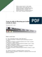 Teclas de atalho do Photoshop para facilitar o seu trabalho de edição