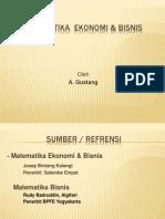 matematika ekonomi bisnis