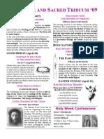 Holy Week Schedule 2009