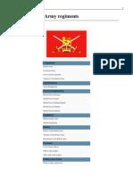 British Army Regiments 2013, Order of Battle, United Kingdom