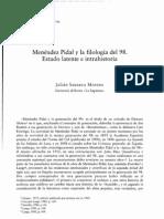 Menéndez Pidal y la filología del 98. Estado latente e intrahistoria - J. Santano Moreno