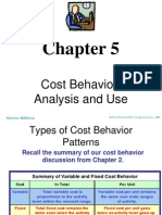 Cost Behavior:Analysis and Use