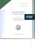 Giovanni Tabacco e l'Esegesi Del Passato