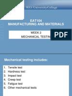 Week 2 Mechanical Testing