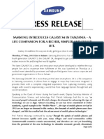 Samsung Galaxy S4 Press Release Final Eng