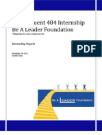 MGT 484 Internship Report