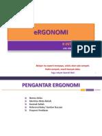 #1 Introduction Ergonomi