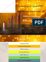 Performance Evaluation of Gold ETF