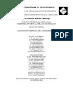 Maestria en Ciencias de Los Materiales