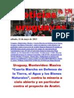 Noticias Uruguayas sábado 11 de mayo del 2013