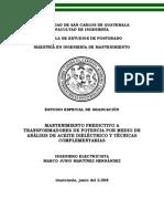 08_0137_MT Mantenimiento Predictivo a Trafos de Potencia Por Medio de Analisi de Aceite y Tecnicas Complementarias