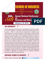 Brochure HSB Conference (7 8th Feb, 2013) 200912