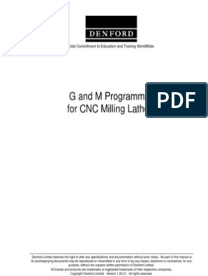 G And M Programming For Cnc Milling Lathes : Total Commitment To
