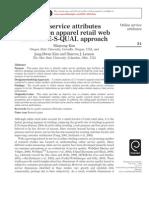 Apparel Retail Websites an ESQUAL Approach