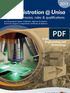 myRegistration-Unisa-2013-CSET | Academic Certificate