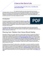 Palliative Wound Care at the End of Life