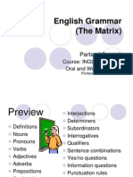 English Grammar the Matrix