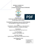 Diagnóstico-Propuesta Creación HospitalDocente M. de G.