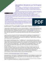 23 Mars 2009 - Un plan Geithner désespérant par Paul Krugman - fr - Nouriel Roubini Loic Abadie Paul Jorion GEAB