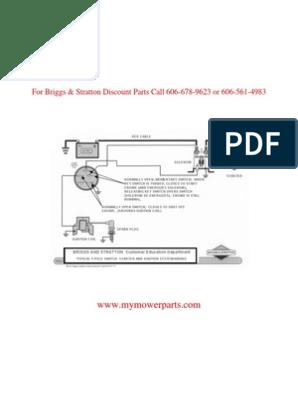 Ignition_wiring Basic Wiring Diagram BRIGGS & STRATTON   Ignition System    Switch