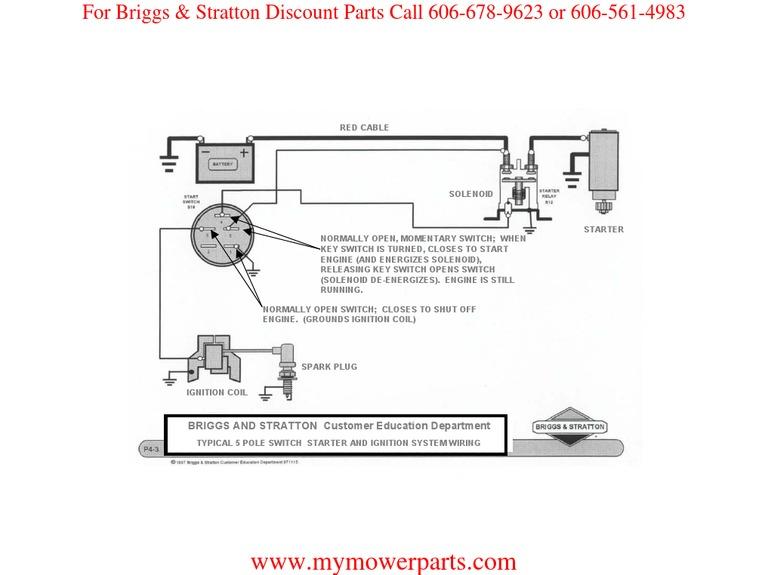 ignition wiring basic wiring diagram briggs stratton rh scribd com Oil Briggs and Stratton Wire Diagram 21 HP Briggs and Stratton Wiring Diagram