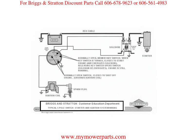 ignition wiring basic wiring diagram briggs stratton rh scribd com Ignition Wiring Diagram for Briggs and Stratton 17.0 Briggs and Stratton 190707 Ignition Wiring Diagram