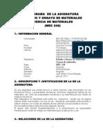 Programa de Ciencia de MaterialesMEC 248 SF