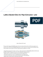 Dies for Pipe Extrusion Line _ Pipe Extrusion Lines