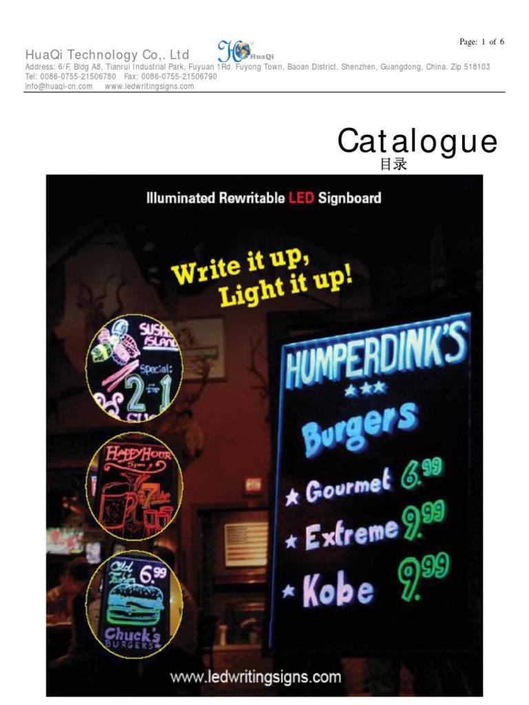 LED WB Catalogue Ashly Huaqi | Light Emitting Diode | Manufactured Goods