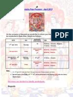Navaratra Puja Program Apr2013