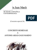 Arias Gago - Marino, Antonio - Concierto homenaje, fundación Juan March
